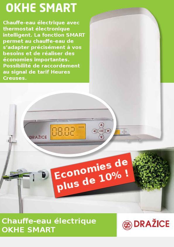 Chauffe eau lectrique dzd okhe smart 100 solaire for Chauffe eau electrique economique