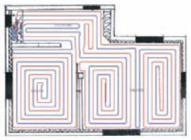 kit plancher chauffant tubes per bao etude plancher chauffant calepinage. Black Bedroom Furniture Sets. Home Design Ideas